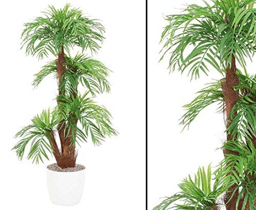 kunstpflanzen-discount.com Areca Kunstpalme mit 5 Baststämme im Keramiktopf Höhe 160cm - Künstliche Areca Palme naturgetreu verarbeitet