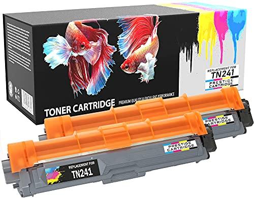 Prestige Cartridge Compatible TN-241BK Cartuchos de Tóner Láser para Impresoras Brother DCP-9020CDW, HL-3140CW, HL-3150CDW, HL-3170CDW, MFC-9140CDN, MFC-9330CDW, MFC-9340CDW - Dos Negros