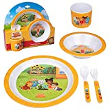 Daniel Tiger 5 Pc Mealtime Feeding Set for Kids and Toddlers - Includes Plate,...