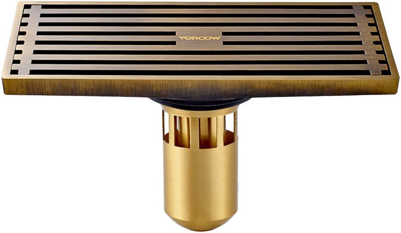 Linear Drain duschrinne Haar-catcher, Rechteck Kupfer Dusche Entwsserung roste Anti-verstopfung Haar-siphon dusche-A