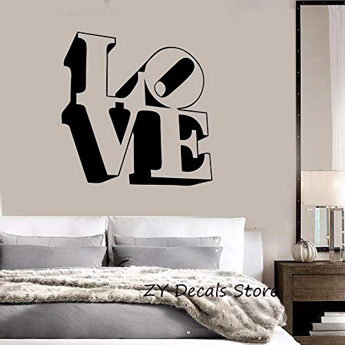 YuanMinglu Liebesbrief Kunst Aufkleber romantische Layout Dekoration Schlafzimmer Schlafzimmer Hochzeit Wanddekoration Aufkleber entfernbare Wandaufkleber Original 42X43CM