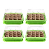 Schramm Set de Cultivo de 4 Piezas macetas de Cultivo en Invernadero Invernadero de Interior 20.5 x 15.5 x 11 cm para 48 macetas de Cultivo Mini Cultivo en Invernadero