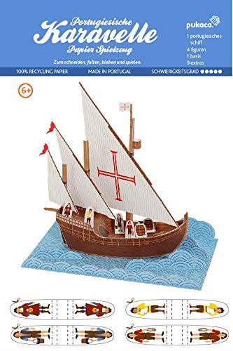 Forum Traiani -Karavelle Segelschiff 14.-16. Jhr.- Pukcaka DIY Bastelbögen Papier-Karton für Kindergeburtstag als Geschenkidee, Bastelidee für Jungs