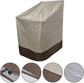Binwe Patio Chair Covers, Veranda Stackable Patio Chair Cover.Lounge Deep Seat Cover, Heavy Duty and Waterproof Outdoor Lawn Patio Furniture Covers