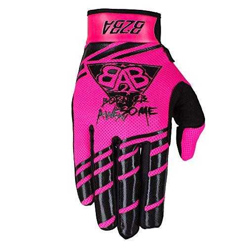 B2BA Clothing RACEWEAR leichte Handschuhe Mountain Bike Downhill Enduro Motocross Freeride DH MX MTB BMX Quad Cross, schnelltrocknend, rutschfest und atmungsaktiv, 2020 Neon Pink Schwarz, Größe M