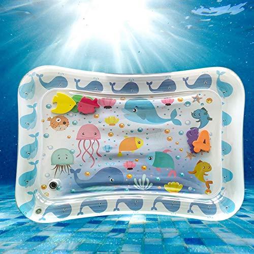 Emoshayoga Cojín Inflable de Agua para bebés con propensión a la Seguridad de la colchoneta de Vida Marina para Piscinas para Exteriores