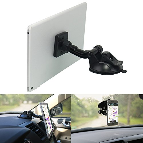 "Magnetic Phone Tablet Holder for Car,OHLPRO Dash Windshield Dashboard Mount 360 Degree Rotating Super Strong Magnet TPU Suction Viscosity for iPhone iPad Size 4""- 10"" Tablet Mount"