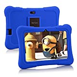 Pritom 7 inch Kids Tablet, Quad Core Android 10, 16GB ROM, WiFi, Bluetooth, Dual Camera, Educationl, Games, Parental Control, Kids Software Pre-Installed with Kids-Tablet Case(DB