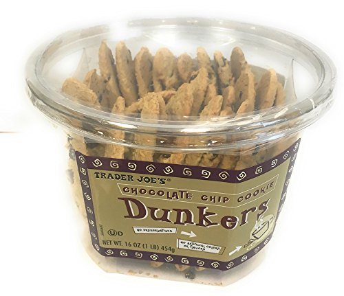 Trader Joe's Dunkers Chocolate Chip Cookies in 16 oz Container