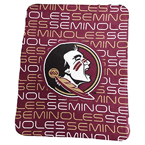 Logo Brands NCAA Florida State Seminoles Classic Fleece, One Size