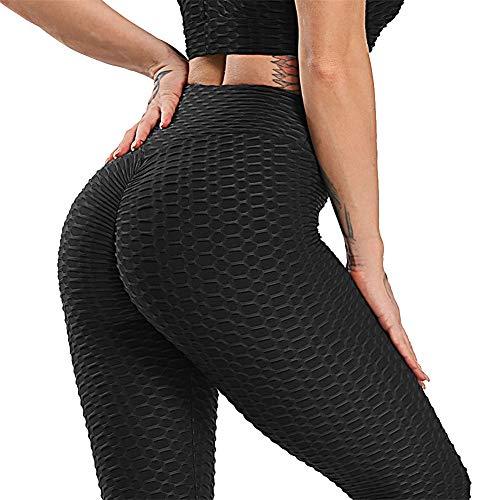 Leggings De Nido De Abejapara Mujer,Pantalones De Yoga Leggings Deportivos De Fitness Pantalones Jacquard Ropa Deportiva para Correr Pantalones De Cintura Alta para Mujer Energy Elastic,Long,L