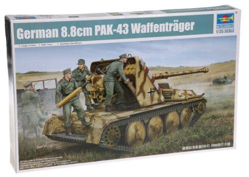 Trumpeter 05550 Modellbausatz German 8.8cm PAK-43 Waffenträger SPG