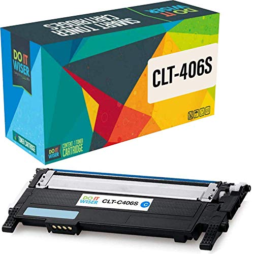 Do it Wiser Kompatible Toner als Ersatz für Samsung CLT-C406S CLP-360 CLP-365 CLP-365W CLP-360N CLX-3300 CLX-3305 CLX-3305FN CLX-3305FW CLX-3305N CLX-3305W C410W SL-C460FW C460W (Cyan)