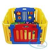 MCC Parc pour bébés à 4 côtés avec panneau d'activités