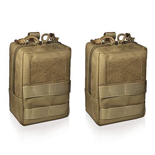 WYNEX 2er-Pack Molle Pouches, Tactical EDC Utility Pouch Kompakt, wasserdicht, Organize Small Gear Gadget für Militärrucksäcke
