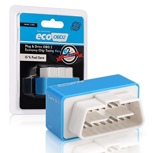 Nitro Eco OBD2 Chip Tuning Box, OBDii Plug & Drive, für Dieselfahrzeuge, Gerät zur Verbesserung der Motorleistung (blau)