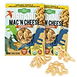 Pastabilities Organic Kids Dinosaur Shaped Mac and Cheese, Fun Pasta Noodles for Kids with Cheddar Cheese Powder, Non-GMO Pasta (10 oz, 2 Pack)