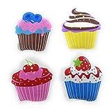 [page_title]-MC-Trend® 4er Set Taschenwärmer Handwärmer Cupcakes für warme Finger im Herbst und Winter, wiederverwendbar