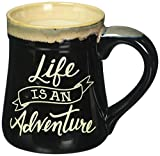 Decorative Life Is An Adventure Coffee Mug, Black