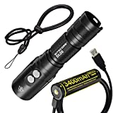Nitecore DL20 100m Submersible 1000 Lumen Dive Light with Red Light NL1834 USB Rechargeable Battery with LumenTac Charging Cable