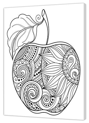 Pintcolor 7167.0 châssis avec Toile imprimée à colorier, Bois de Sapin/Coton, Blanc/Noir, 40 x 50 x 3,5 cm