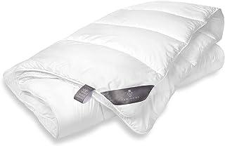 FAM Home Couette 220x240 en Microfibre Lavable Hypoallergénique Blanc I Couette 2 Personne 240x220