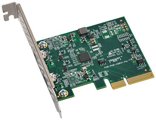 Sonnet Technologies USB3C-2PM-E Adapterkarte Silber/grün