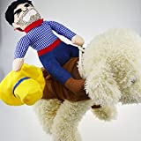 PROtastic Pet Dog Halloween Cowboy Funny Costume Dog Riders Clothes (Medium)