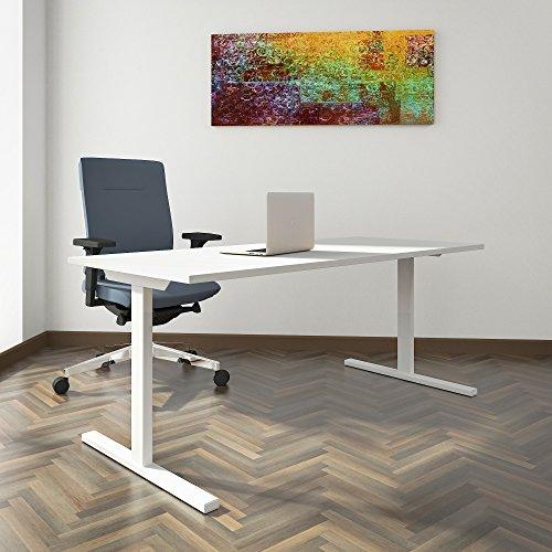 Profi Schreibtisch 180x80cm T-Easy Weiß Bürotisch Arbeitstisch Computertisch Büro, Gestellfarbe:Weiß