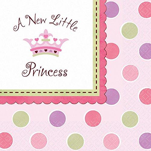 amscan 20 Serviettes Little Princesse - Premier Anniversaire Fille - Anniversaire Enfant
