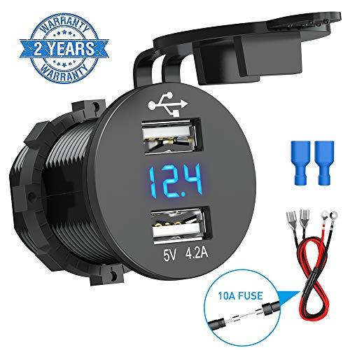 CHGeek Presa USB per Auto 150 W 12 V / 24 V, Caricabatteria per Auto 5 V 4,2 A Dotata...