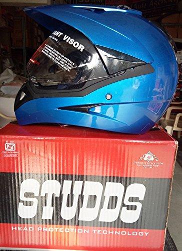 Studds MotoCross Helmet Flame Blue (L)