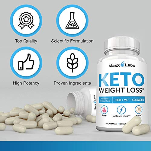 Keto Diet Pills - New - Exogenous Ketones Supplement Advanced Weight Loss for Women & Men with Best Ketogenic Fat Burner Beta Hydroxybutyrate BHB Salts to Keto Burn Fat - Easy to Swallow Capsules 2