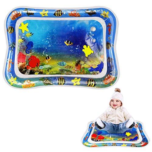 Wasser Spielmatte für Babys und Kinder, ToMoYi Wasserbefülltes Baby-Spielzeug Findet Nemo Wassermatte Aufblasbare Bauchzeit Aufblasbare Tastmatte Spielzeug Bauchlage Pad 66x50CM für Babys
