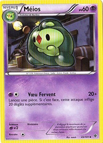 carte Pokémon 043/101 Méios 60 PV Série BW Explosion Plasma NEUF