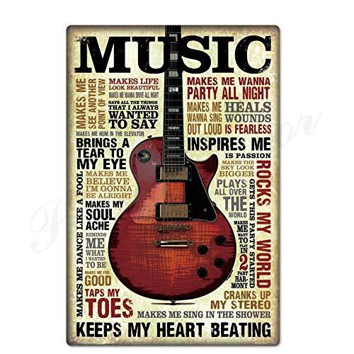 ivAZW Metal Poster Tin Sign Plaque Nostalgic-Art Rock Vintage Plaque Metal Vintage Retro Rock For Bar Pub Club Man Cave 20X30Cm Th1451
