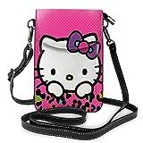 Pequeña impresión del gatito del leopardo del monedero del teléfono celular de los bolsos de Crossbody con las ranuras de la tarjeta