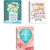 Christian Inspirational Journals, Spiral Bound Notebooks (6 x 8 in, 3 Pack)