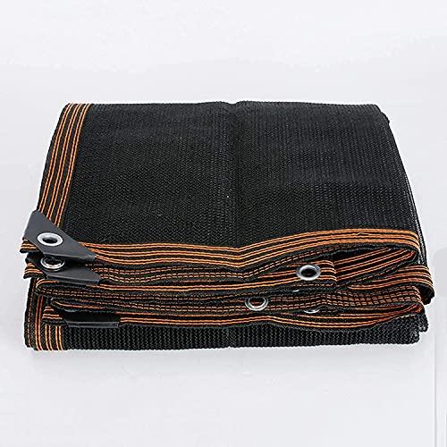 ZHAOMAI Shade Net 70% Negro Sombra Netificación Sol Sunde Paño Anti-UV, Cubierta de Planta Flowers Flores Sunscreen Messh Tarp (Color: Negro, Tamaño: 4x7m) (Color : Black, tamaño : 2x4m)