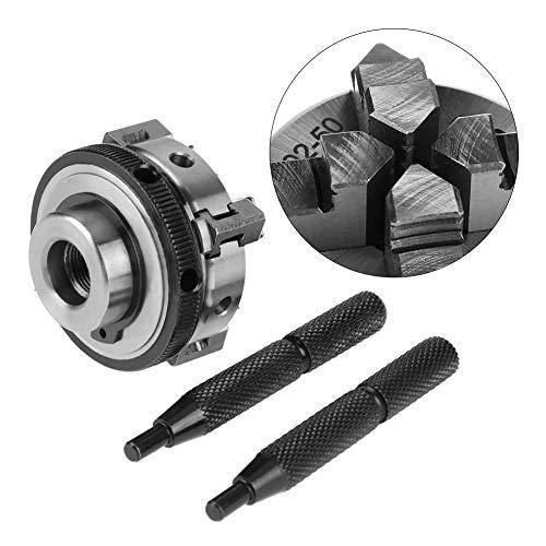 Portabrocas de torno, 50 mm Mini 4 mordazas Reversible autocentrante M14 Portabrocas manual de torno de montaje de rosca, para rectificadoras
