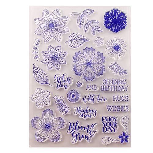 DIY bloemen laat denken van u verzenden verjaardag knuffels duidelijke stempels voor kerstkaarten maken decoratie en Scrapbooking rubber stempels voor ambacht