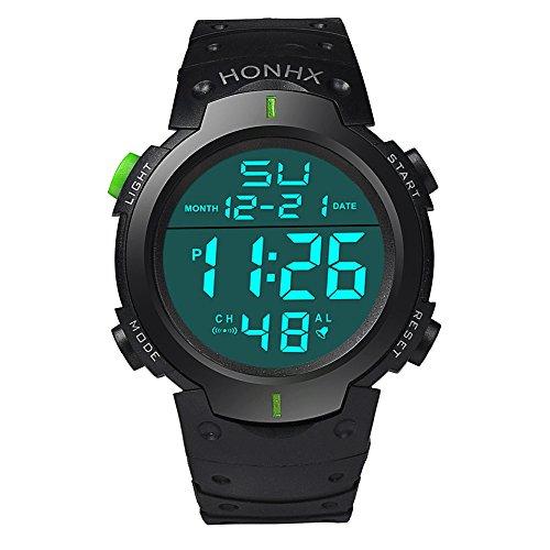 2019 Nuovo Uomo Orologio elettronico di alta qualità orologio da polso sportivo con cronometro digitale impermeabile a LED By WUDUBE
