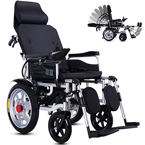 KuiGu Faltbarer Power Kompakter Mobilitätshilfe-Rollstuhl, Leichter elektrischer Elektrorollstuhl Reclining, tragbarer medizinischer Roller,25km