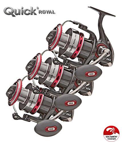 3 Stk. DAM Quick Royal 760 FD - Big Pit Rolle, salzwasserfest, Neu 2016