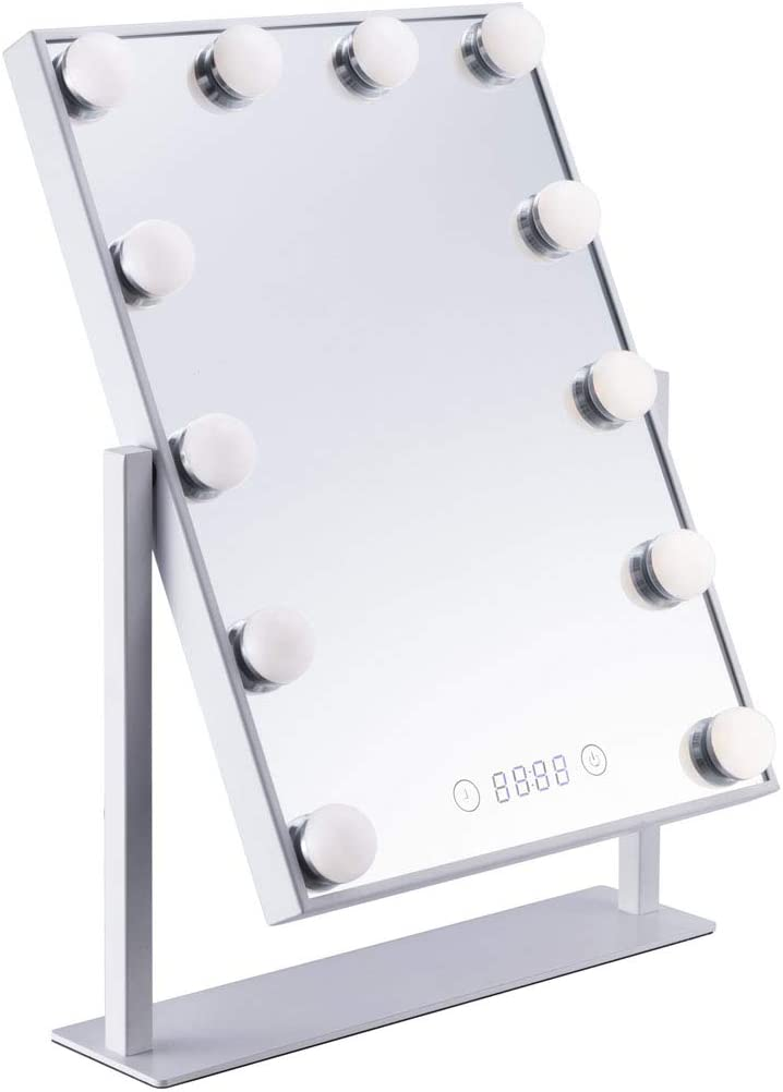 Newkiton Lighted Branded goods Vanity Mirror with Illumi sale LED Dimmable 12 Bulbs