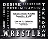 Apple Creek Wrestling Motivational Poster Photo Mat 8'x10' Kids Shoes Head Gear Singlet