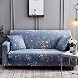 Ihoming Printed Stretch Sofa Slipcover Loveseat Slipcover Couch Slipcover with 2 Free Pillow Covers, 2/3/4/ Seat Sofa Covers(Loveseat, Moonlight Flower)