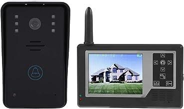 Sistema de intercomunicación con puerta de video,2.4G Sistema de intercomunicación con timbre de puerta Doorphone con moni...