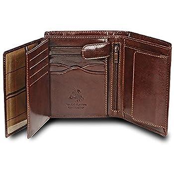 Visconti MONZA 3  Soft Italian Glazed Quad Fold Wallet  Brown