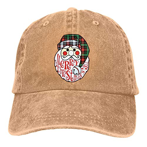 Florasun Gorra de béisbol ajustable atlética personalizada con diseño de Papá Noel Feliz Navidad